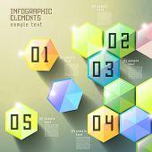 modern vector abstract hexagonal design infographic elements poster