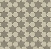 Beige Hexagon Patterned Textured Fabric Background that is seamless and repeats poster