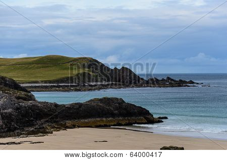 Rocky Coastline With Sandy Beaches