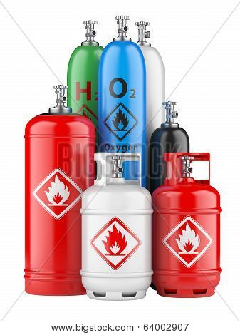 Cylinders With Compressed Gas