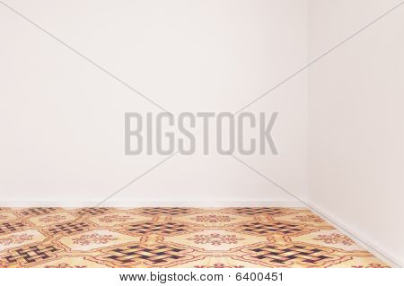White Wall With Floor