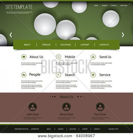 Website Design with Globes Pattern