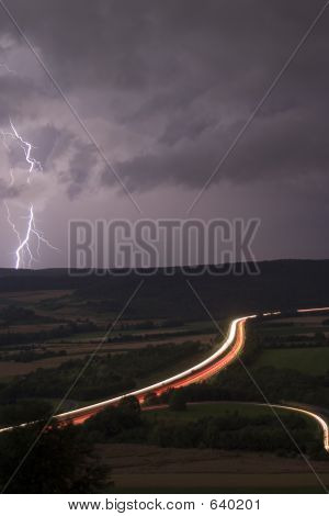 Motorway With Lighting