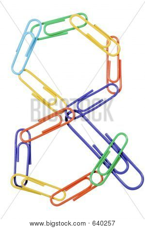 Paperclips Arranged Into The Shape Of The And Or Ampersand Symbol.
