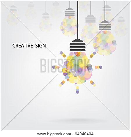 Creative Light Bulb Idea Concept Background Design