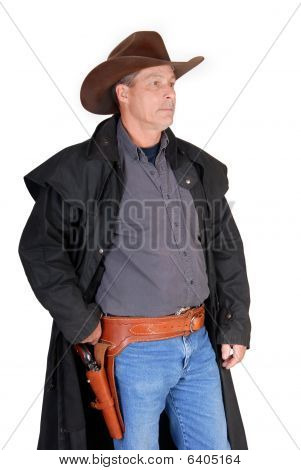 Side View Standing Cowboy