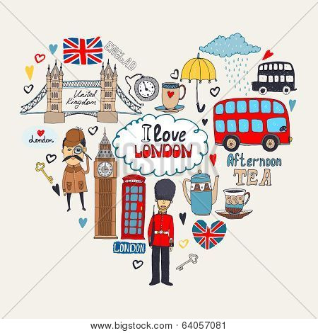 I Love London card design