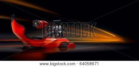 Chair car racing simulator