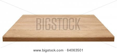 Wooden table top, isolated