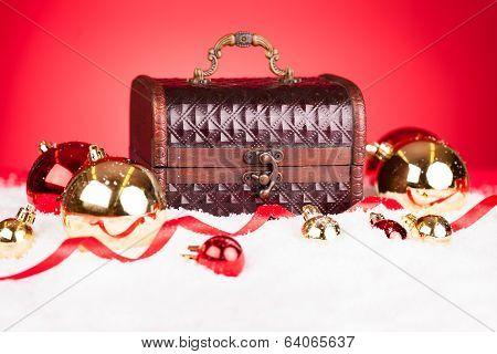 Christmas Bauble With Treasure Box