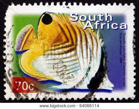 Postage Stamp South Africa 2000 Treadfin Butterflyfish, Marine F