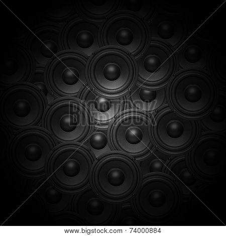 Audio music speaker background