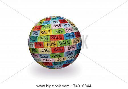 Sale  Tagcloud 3D Ball