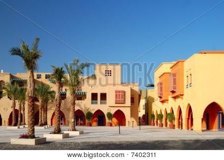 Plaza de la ciudad en El-gouna, Egipto