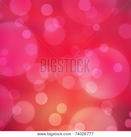 The Red Bokeh Light Is Colorful