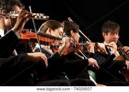 Classical Music Concert: Symphony Orchestra On Stage