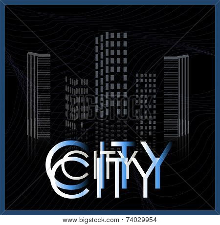 vector of graphical urban cityscape art illustration poster