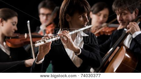 Classical Music Concert: Flutist Close-up