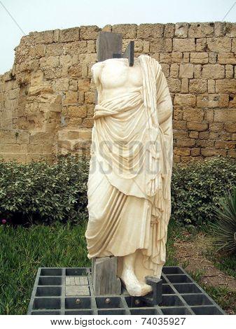 Roman statue,Caesarea, Israel