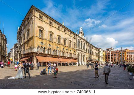 Building At The Piazza Signiori In Vicenza