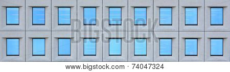 Corporate building windows pattern