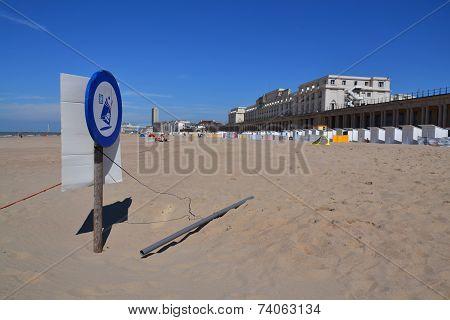 Seafront Promenade In Oostende, Belgium