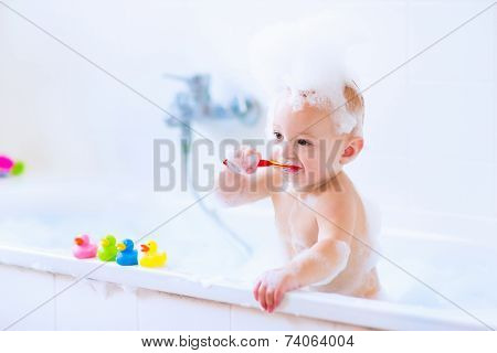 Baby In Bath