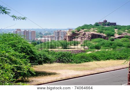 View Of Jodhpur City From Umaid Bhawan