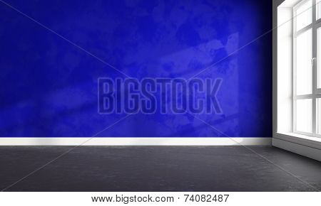 3D   Bright Wall And Floor