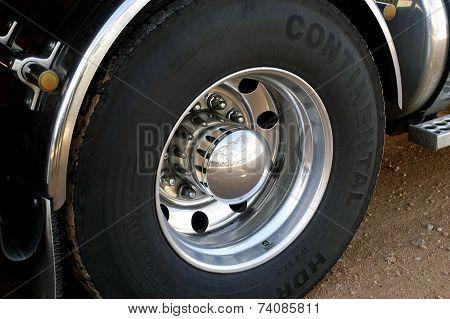 Detail Of A Large Australian Wheel