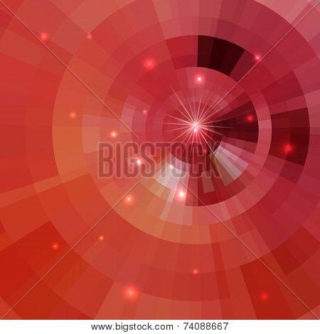 Abstract Shining Circle Tunnel