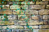 Background Texture Of English Rustic Stone Wall poster