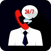 Abstract Service Operator - vector illustration in flat style  eps 10 poster