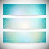 Microchip background, electronics circuit, EPS10 vector illustration. poster