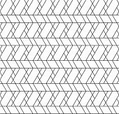 Black and white geometric seamless pattern with line rhombus trapezoid and triangle eps10 vector. poster