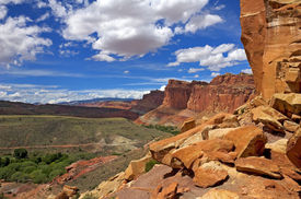 View From Cohab Canyon Trail Capitol Reef National Park