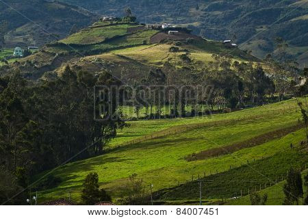 Ingapirca town in Canar Ecuador