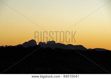 The Olga's Soft Yellow Sunset