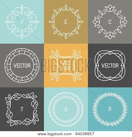 Vector Set Of Trendy Logo Design Elements