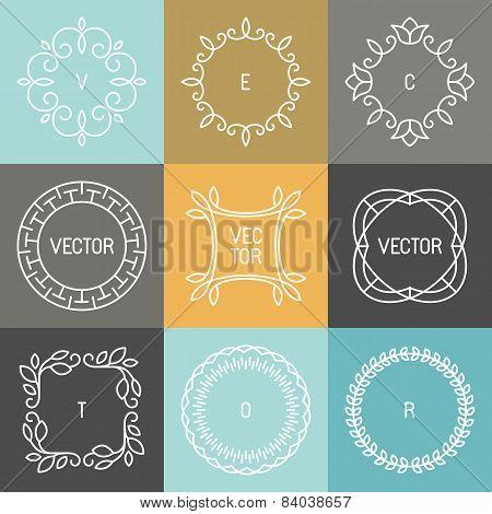 Vector Set Of Trendy Logo Design Elements