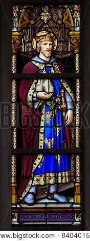 Stained Glass Window Of Saint Leopold Iii, Patron Saint Of Austria