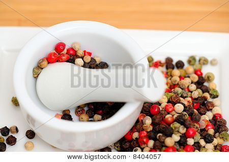 Red Green And Black Peppercorns