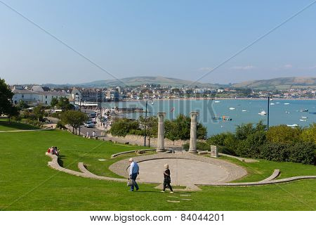 Sunshine and warm weather brought visitors to Swanage on the Dorset coast to enjoy this popular town