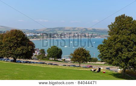 Swanage Dorset England UK from Prince Albert Gardens