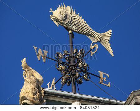 Fish Weather Vane At Old Billingsgate Fish Market In London