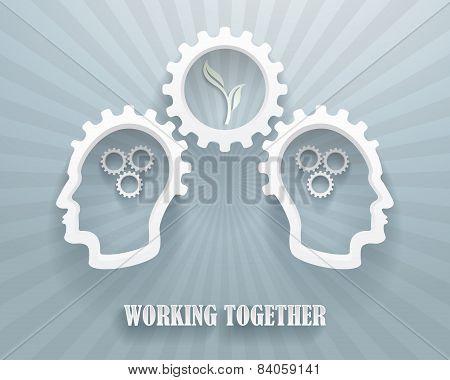 Working Together Illustration Background