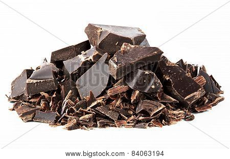 Black mangled chocolate
