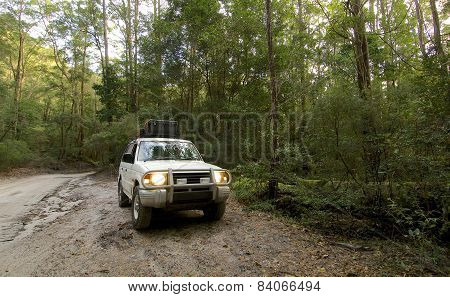 SUV on Fraser Island Queensland