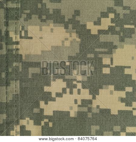 Universal Camouflage Pattern, Army Combat Uniform Digital Camo, Double Thread Seam, Usa Military Acu