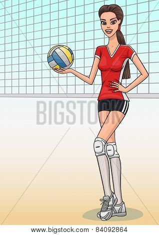 Volleyball girl.